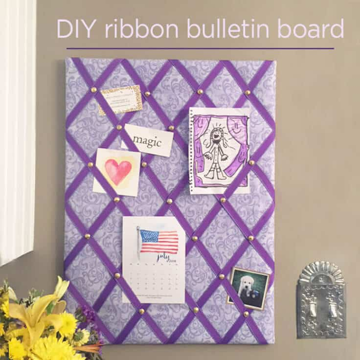 diy ribbon bulletin board easy tutorial