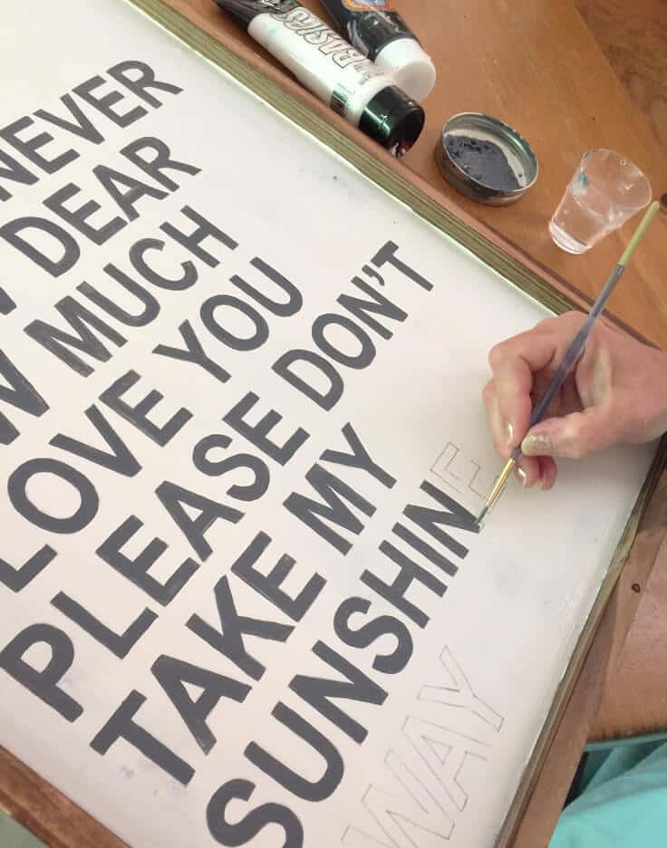 how to make a wood sign with inspirational type