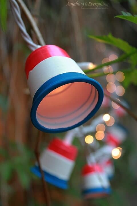 DIY Patriotic Party Lights - Anything and Everything for Houseologie - 4th of July Party Decor featured on Kenarry.com