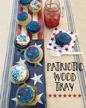 how to make a patriotic wood tray