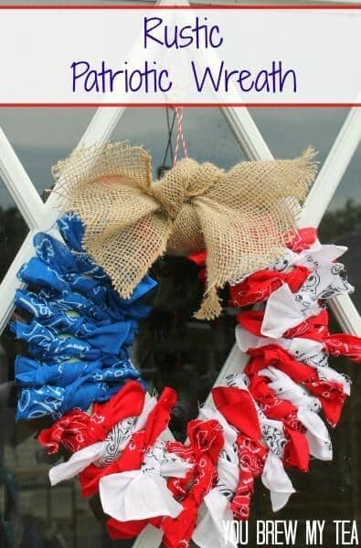 Patriotic 4th of July Wreath Tutorial – You Brew My Tea - 4th of July Wreaths featured on Kenarry.com