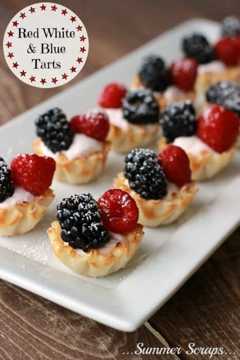 Red, White and Blue Tarts – Summer Scraps - Patriotic Treats for 4th of July featured on Kenarry.com