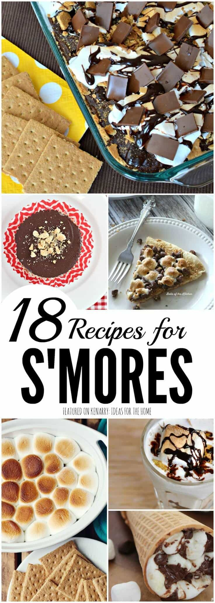Who knew you could make s'mores so many different ways? This collection of 18 s'mores recipes includes ideas for cakes, cupcakes, bars, milkshakes, smoothies and even popcorn! These desserts are perfect for summer, National S'mores Day or any time of the year.