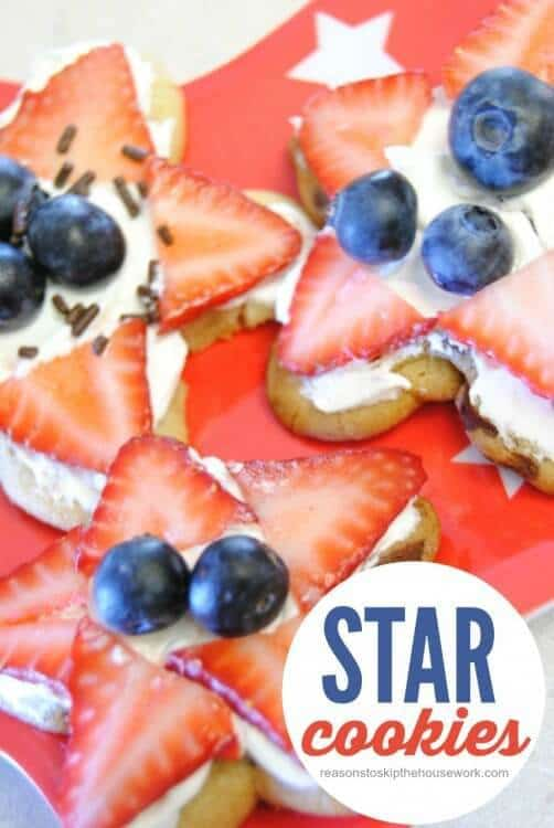 Star Cookies – Reasons to Skip the Housework - Patriotic Treats for 4th of July featured on Kenarry.com