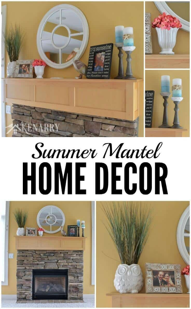 Summer Mantel Decor Ideas Hot Pink And Teal Accents