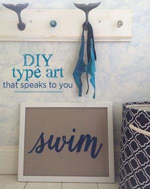DIY typography artwork