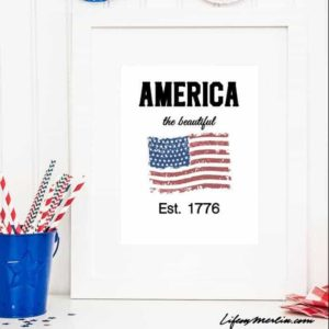 Patriotic Inspirational Quote Printable for Home Decor