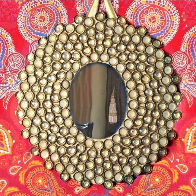 How to make a Boho Mirror out of Bottlecaps