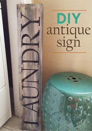 DIY antique sign