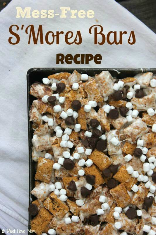 Mess Free S'mores Bars Recipe – Must Have Mom - 18 delicious s'mores recipes featured on Kenarry.com