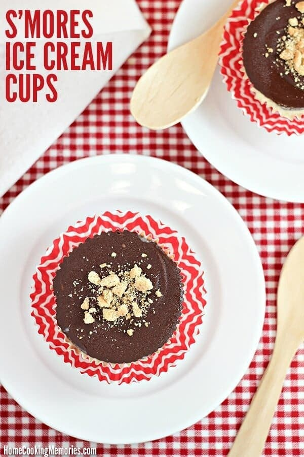 S'mores Ice Cream Cups Recipe – Home Cooking Memories - 18 delicious s'mores recipes featured on Kenarry.com