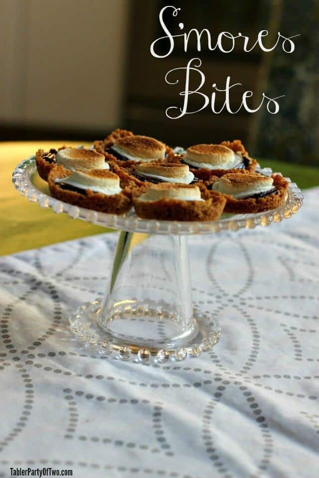 S'mores Bites – Tabler Party of Two - 18 delicious s'mores recipes featured on Kenarry.com