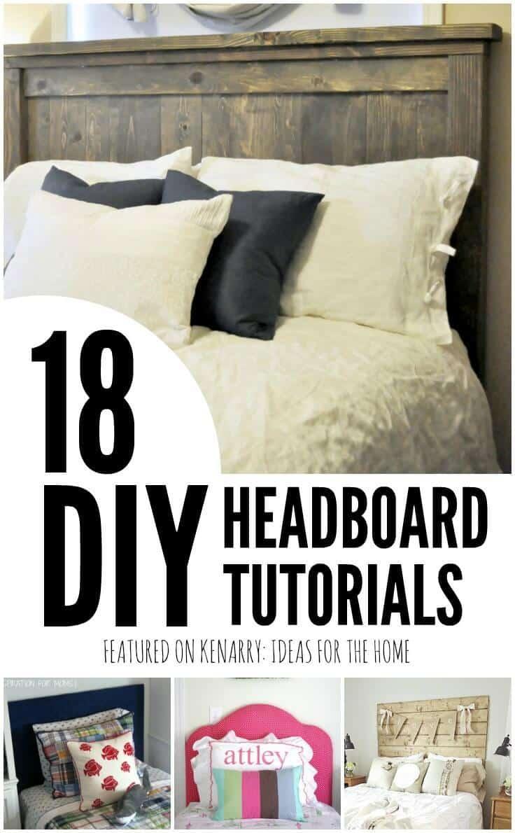 Make My Own Headboard diy headboard tutorials: 18 great bedroom ideas