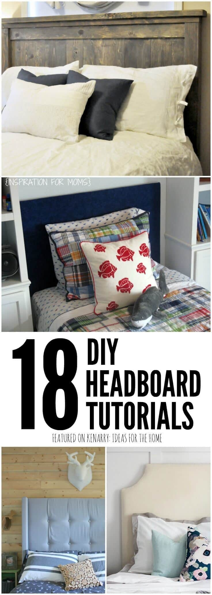 I've always wanted to make my own headboard for our bedroom. These DIY headboard tutorials make it look so easy -- and budget-friendly too!