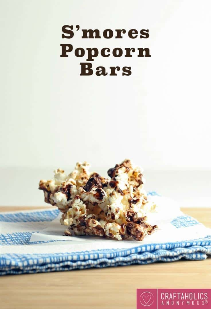 S'mores Popcorn Bars – Craftaholics Anonymous - 18 delicious s'mores recipes featured on Kenarry.com