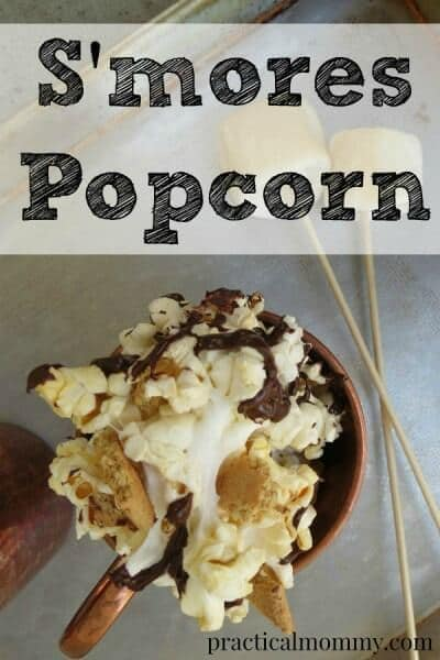 S'mores Popcorn - Practical Mommy - 18 delicious s'mores recipes featured on Kenarry.com