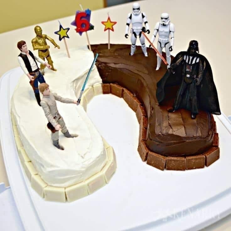 Miraculous Star Wars Birthday Cake An Easy Idea And Party Supplies Birthday Cards Printable Giouspongecafe Filternl