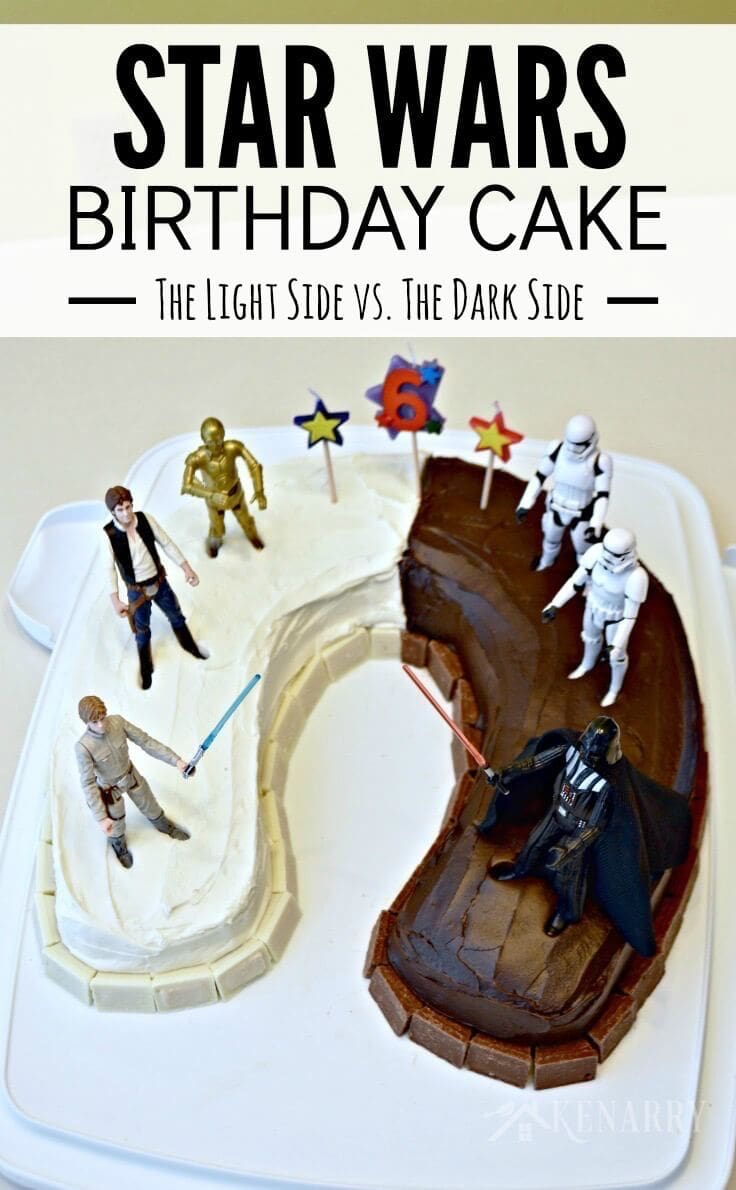 Love This Idea For A Star Wars Birthday Cake Half The Is Dark Chocolate