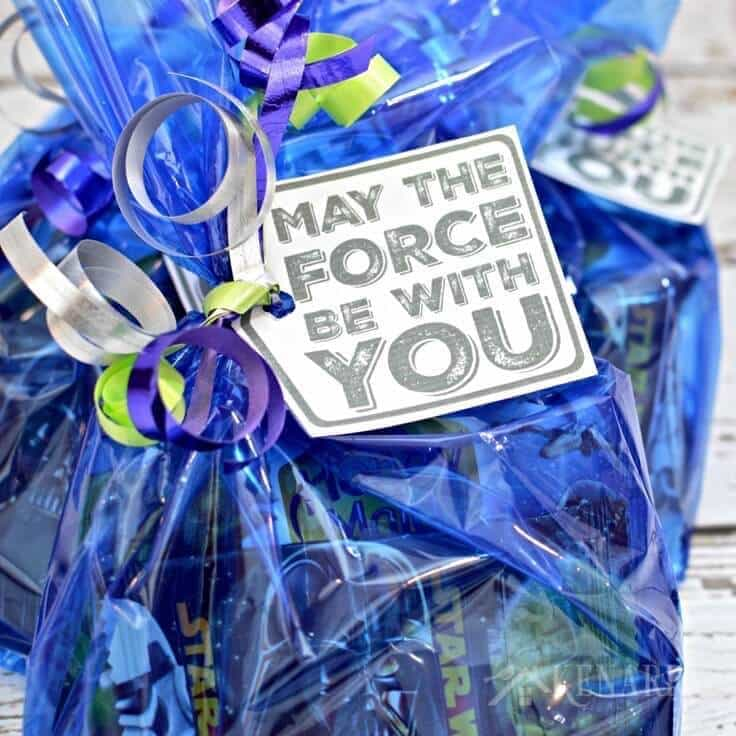 May the Force Be With You printable Star Wars gift tags