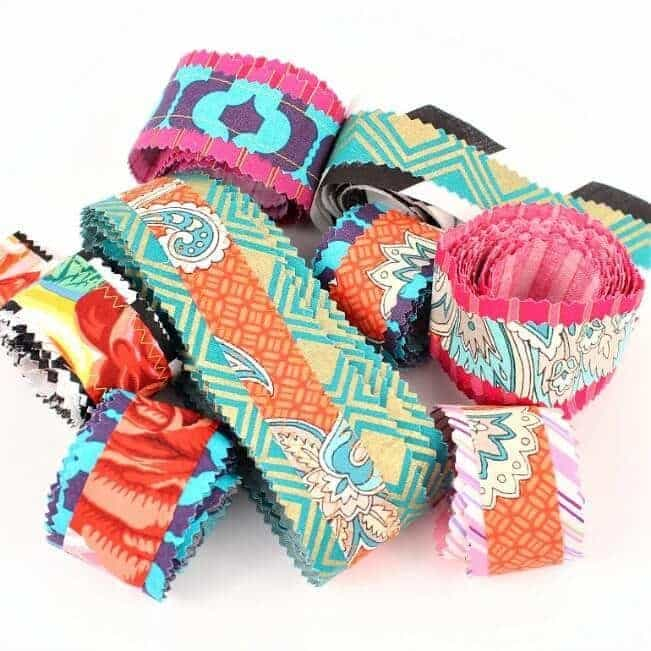 Make your own colorful ribbon out of fabric scraps