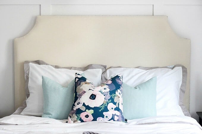 DIY Upholstered Headboard – Just a Girl and Her Blog - DIY Headboard Tutorials and Ideas featured on Kenarry.com
