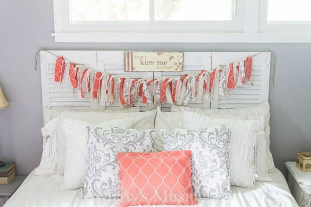 DIY Headboard from a Closet Door – Marty's Musings - DIY Headboard Tutorials and Ideas featured on Kenarry.com