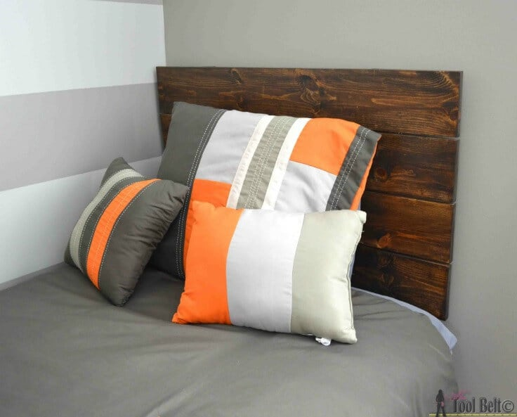 Simple DIY Headboard – Her Tool Belt - DIY Headboard Tutorials and Ideas featured on Kenarry.com