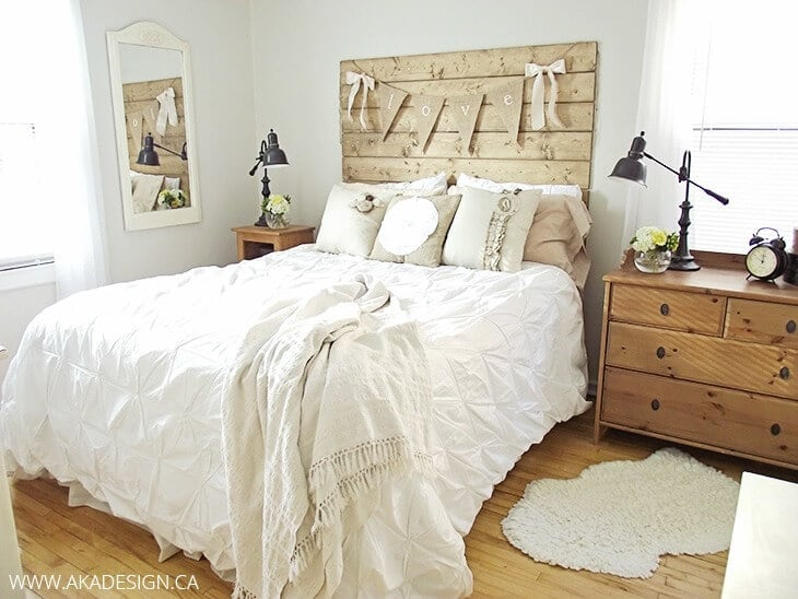 How to Make a Wood Plank Headboard – AKA Design - DIY Headboard Tutorials and Ideas featured on Kenarry.com
