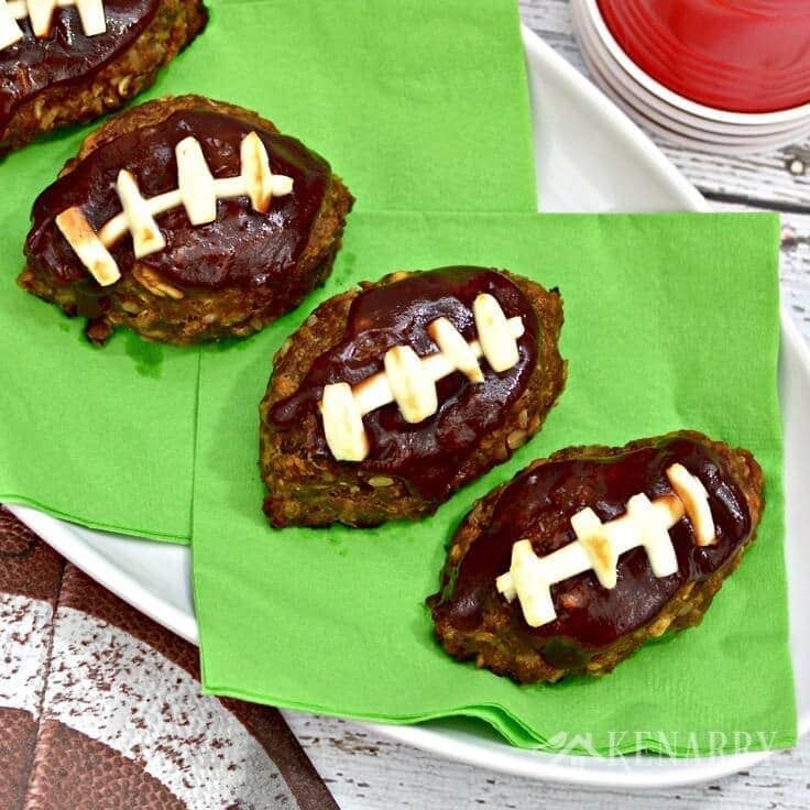 Barbecue Meatloaf Recipe Shaped Like a Mini Football