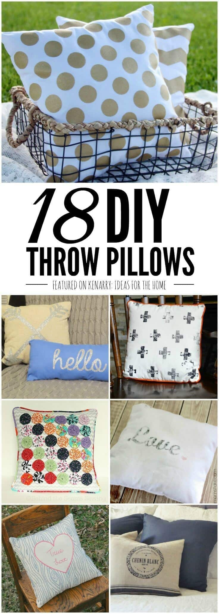 You\u0027d be surprised how easy it is to make your own pillows with these & DIY Throw Pillow Tutorials: 18 Great Home Decor Ideas pillowsntoast.com