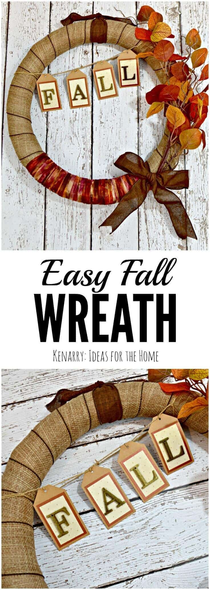 This autumn wreath is a beautiful craft idea! I love how easy it is to follow this step-by-step fall burlap wreath tutorial to make one for my own home decor.