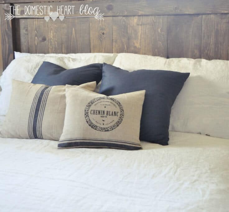 Easy 2-Seam Pillow Cover No Cutting or Measuring! \u2013 The Domestic : diy throw pillow measurements  - pillowsntoast.com