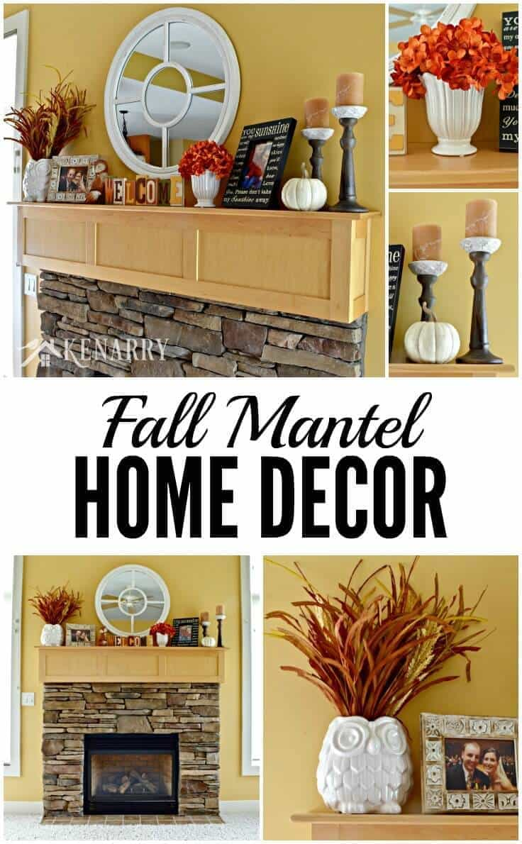 Love These Fall Mantel Decor Ideas To Update A Fireplace For Autumn With  Pumpkin Orange And