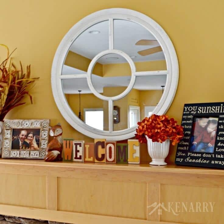 10 Large Living Room Ideas To Fall In Love With: Fall Mantel Decor Ideas: Orange And Yellow Accents