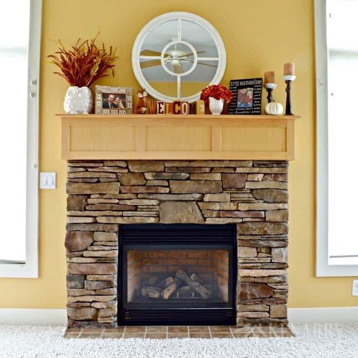 Fall Mantel Decor Ideas: Orange and Yellow Accents