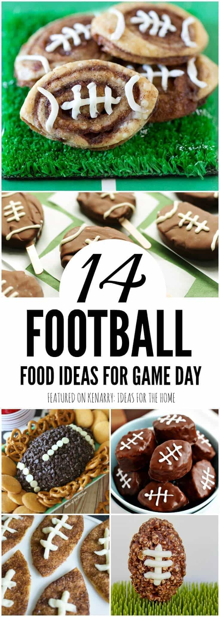 I love all these football shaped food ideas! I can't wait to try to some of these fun recipes for game day, tailgating - and even the Super Bowl!