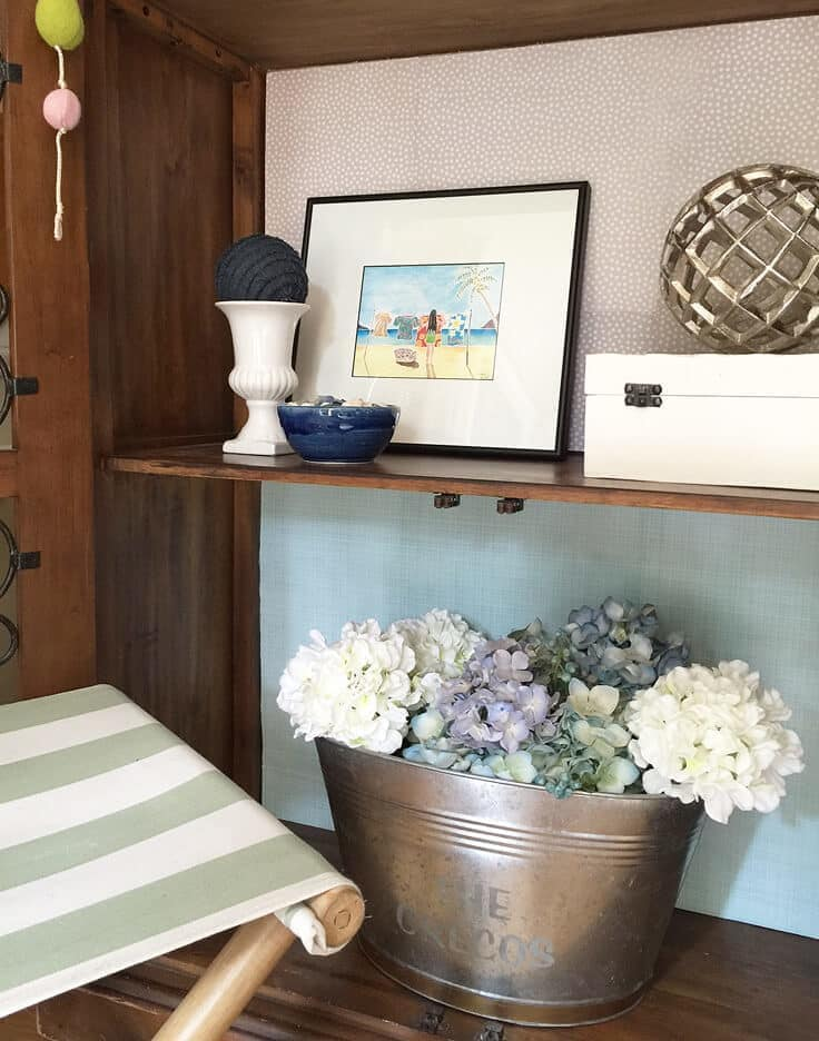 add temporary color to a cabinet