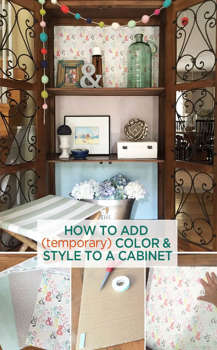 add temporary color to your cabinet