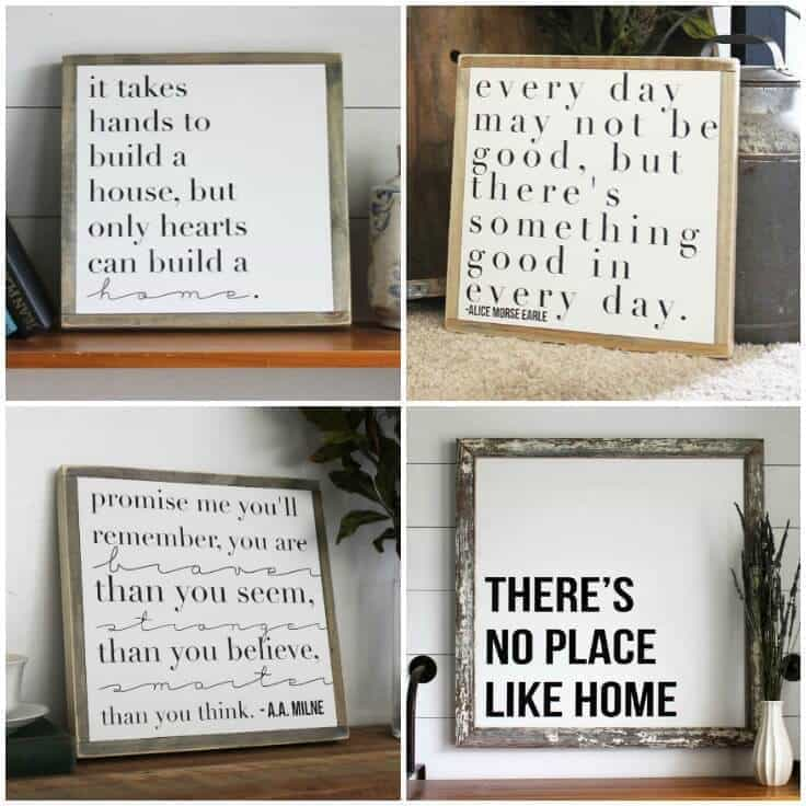 Inspirational Home Decor Signs: Rustic and Modern