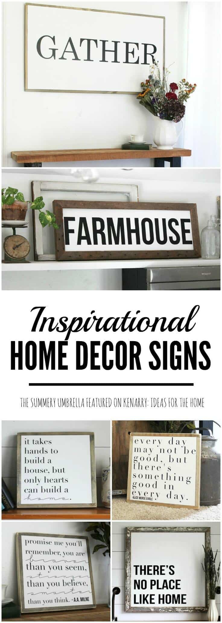 Beautiful Inspirational Home Decor Signs From The Summery Umbrella Which Offers Rustic With A