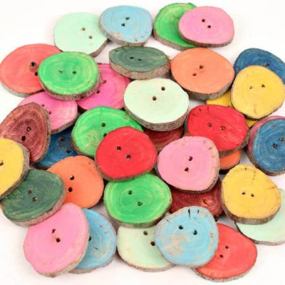 Homemade buttons made out of branches