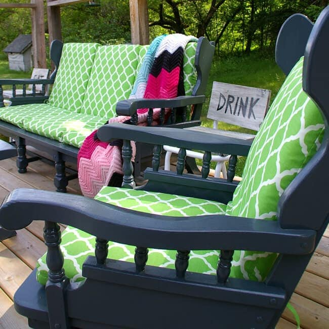 Turning indoor furniture into outdoor furniture - DIY home projects