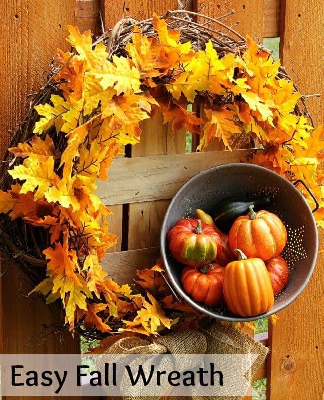 Easy To Make Fall Wreath