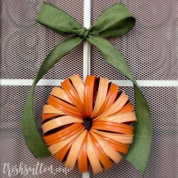 Fall Mason Jar Ring Wreath Tutorial With Craft Tape