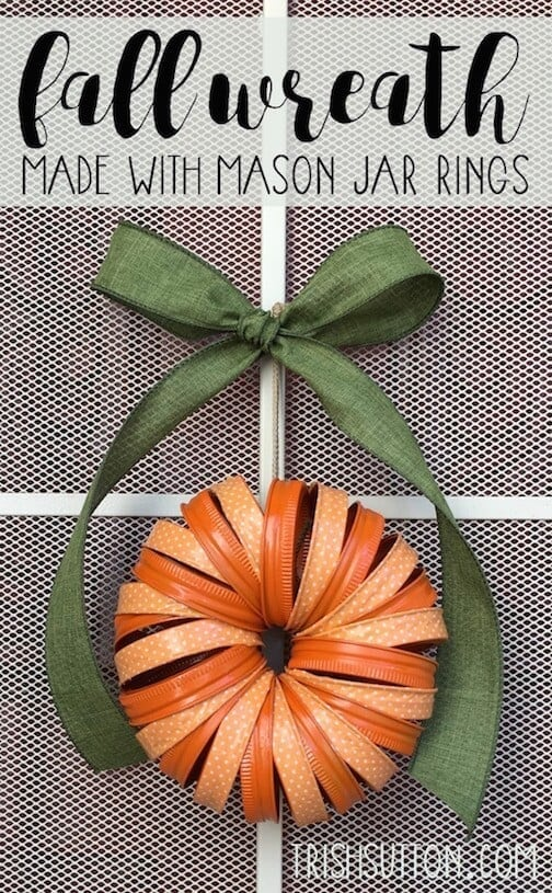 Fall Mason Jar Ring Wreath with Craft Tape. Kenarry: Ideas for the Home By Trish Sutton