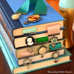 Make Your Own Vintage Brooch Bookmarks