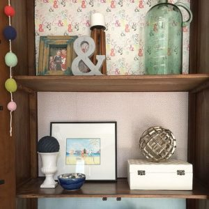 How to Add (Temporary) Color and Style to a Cabinet
