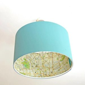 Ridiculously Easy Ikea Map Lamp Hack