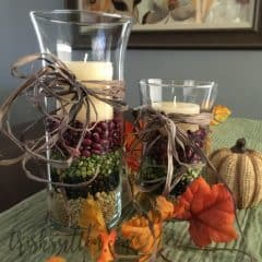 Thanksgiving Centerpiece; Simple Fall Decor