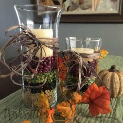 Thanksgiving Centerpiece; Simple Fall Decor